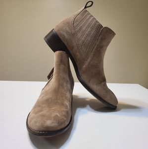 Paul Green Creme Suede Ankle Boots N29J